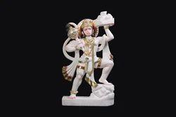 HU-0004 White Marble Hanuman God Statue