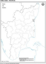 Tamilnadu Outline For State Map