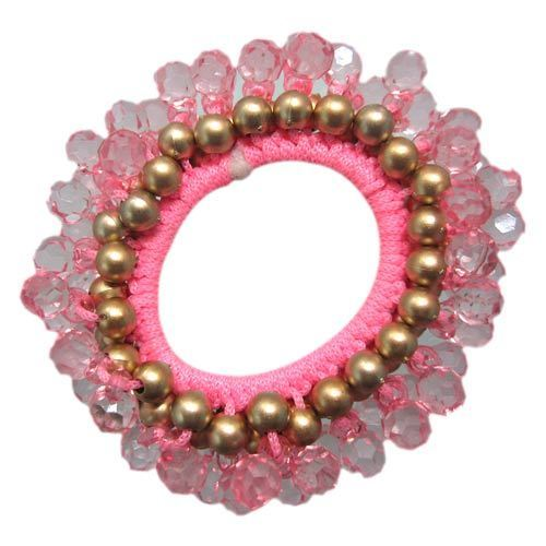Beaded Hair Rubber Bands at Rs 110  piece(s)  f17b4fbce46