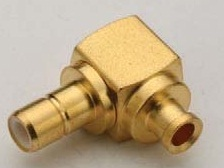 SMB Female Right Angle Solder Connector