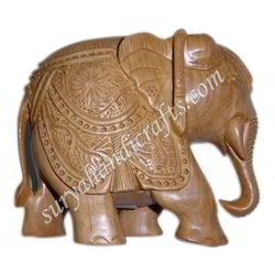 Wooden Elephant With Sandal Wood