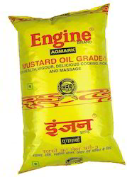 Engine Mustard Oil Kacchi Ghani 1 Ltr. Pouch