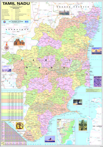Map of tamilnadu physical at rs 130 piece model basti new delhi map of tamilnadu physical gumiabroncs Image collections