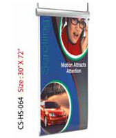 Black Wooden Hanging Scrolling Roll Banner, for Advertisement