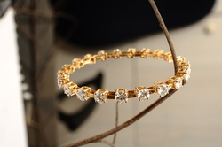 Gold and Moissanite Bracelet