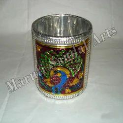 Metal Meena Round Pen Stand