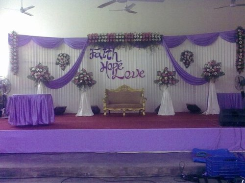 Birthday Stage Decorations, Indian Wedding Decorations, Marriage ...
