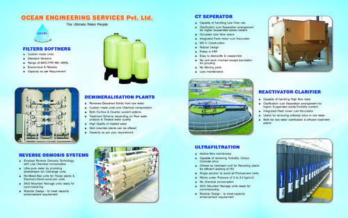 Water & Waste Water Treatment, | Ocean Engineering Services