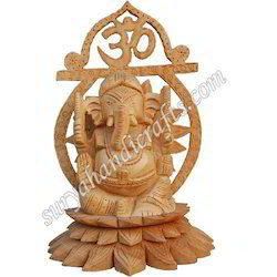 Wooden Carving Ganesh