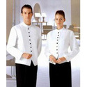 Black & White Cotton Reception Uniforms, For Hotel