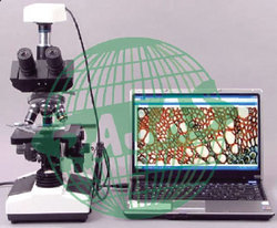 Trinocular Microscope with CCTV Attachment