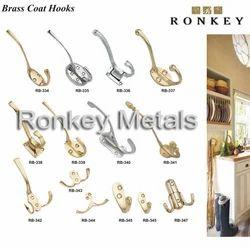 Brass Coat Hooks