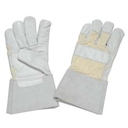 Natural Grain Leather Palm Gloves