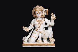 HU-0005 Marble Lord Hanuman Statue