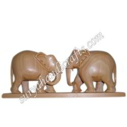 Wooden Elephant With Patti