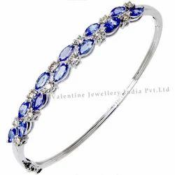 Two Row Tanzanite Gemstone Bracelet