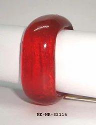 Red Metal Glass Napkin Ring