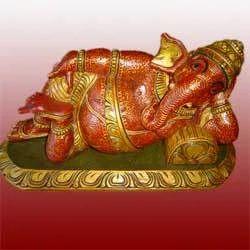 Decorative Ganesha Wooden Statues