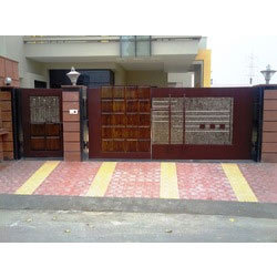 Steel Wooden Gates Ms Wooden Gate Manufacturer From