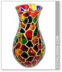 Glass Flower Vase Surahi