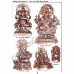 Brass Makhan & Ten Hand Ganesh