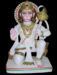 HU-0016 Exquisite Hanuman Statue From Marble