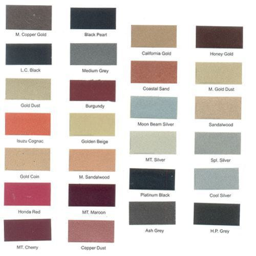 Berger Exterior Paints Shade Card