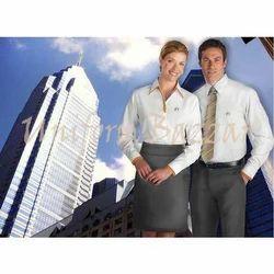 White and Gray Uniform- Corporate U-4