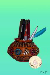 Hand-Made Handcrafted Pen Stand, For Pen Holder