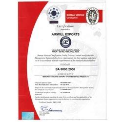 SA 8000:2008 Certification
