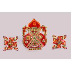 Swastik Kalash Wall Sticker, for Worship