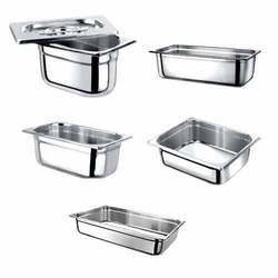Rectangular Stainless Steel Gastronorm Containers, for Restaurant