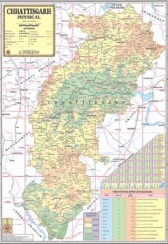 Physical Map Of Chhattisgarh