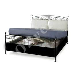 Large Wrought Iron Storage Bed