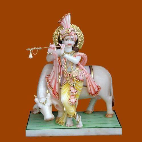 B M Natha Exports Exporter Of Marble Krishna Statue