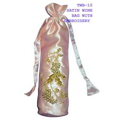 Satin Wine Bag