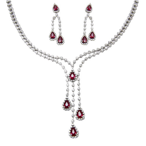 Designer necklace in diamonds at rs 324615 piece sitapura designer necklace in diamonds audiocablefo