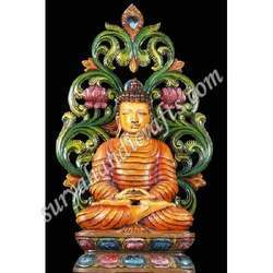 Wooden Painted Buddha