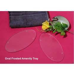 Oval Frosted Amenity Tray