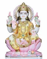 LA-1013 Marble Statue Of Goddess Lakshmi