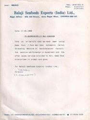 Balaji Seafoods Exports (India) Ltd.