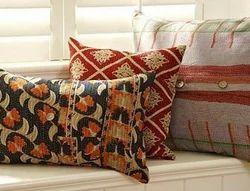 Antique Kantha Quilt Pillow