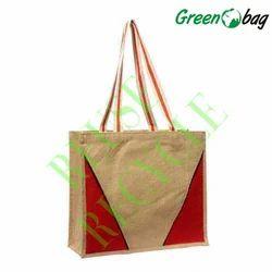 Green Bag Brown Jute Reusable Bags