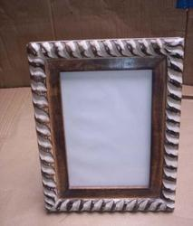 Polished Wooden Mango Wood Carved Frame, For Decoration, Size: 8 X 10 Inch