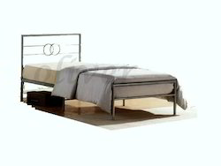 Metallic Silver Single Bed