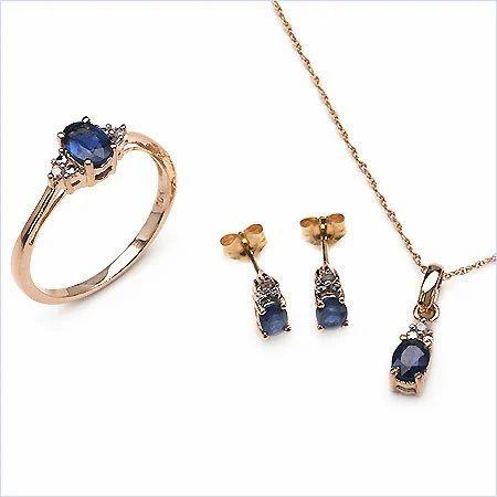 145ctw 10k yellow gold sapphire pendant set johareez wholesale 145ctw 10k yellow gold sapphire pendant set aloadofball Image collections