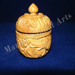 Wooden Carved Apple Shape Box