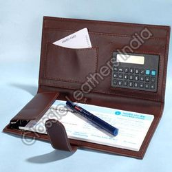 Checkbook Holder with Calculator