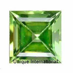 Peridot Square Cut Gemstone
