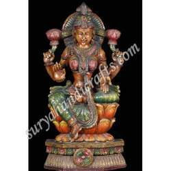 Wooden Painted Laxmi